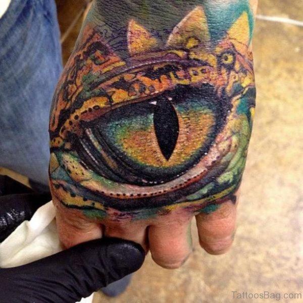 Fabulous Eye Tattoo On Hand