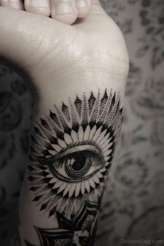 Fabulous Eye Tattoo On Wrist