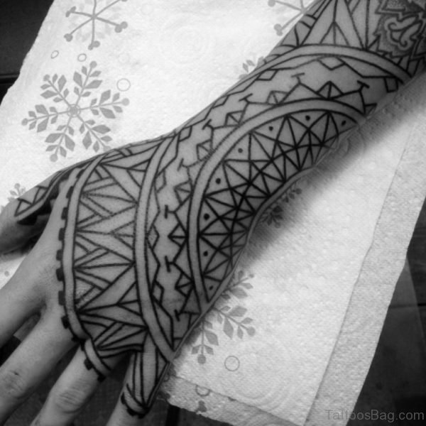 Fabulous Geometric Tattoo On Hand
