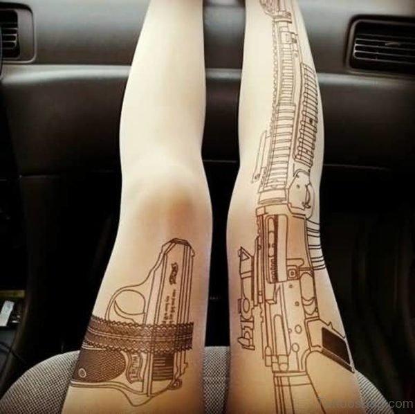Fabulous Gun Tattoo