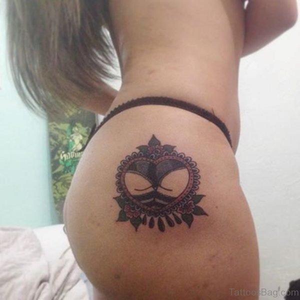 Fabulous Heart Tattoo On Waist
