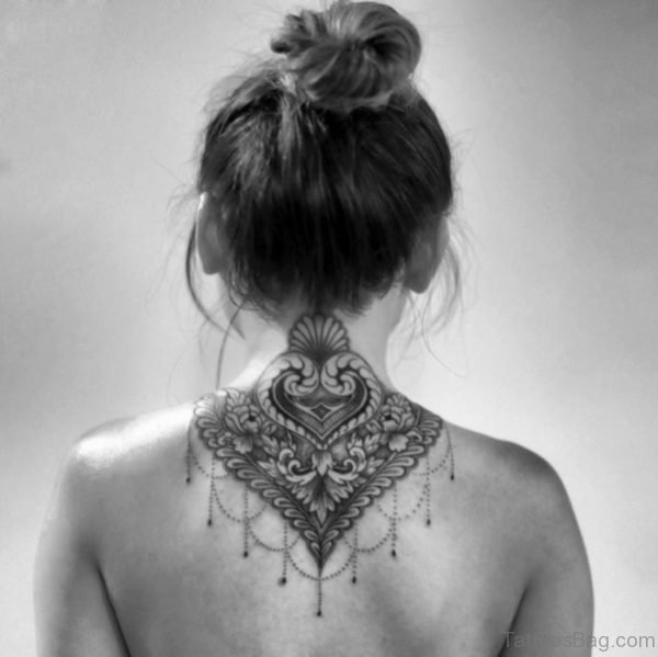 Fabulous Mandala Neck Tattoo