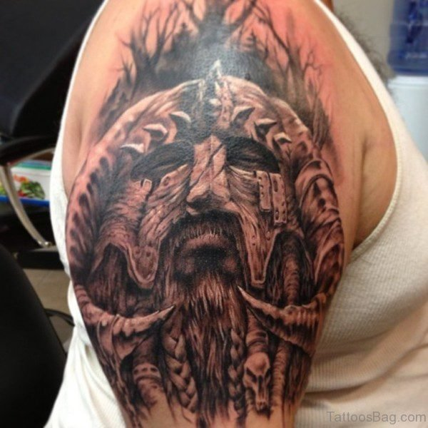 Fabulous Nordic Shoulder Tattoo Design