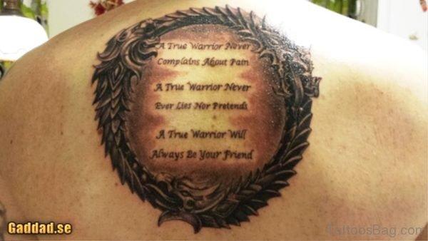 Fabulous Scroll Tattoo On Back
