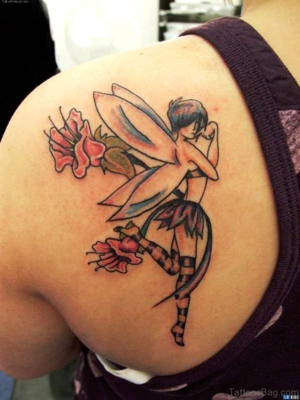 Fairy Tattoo Design On Back