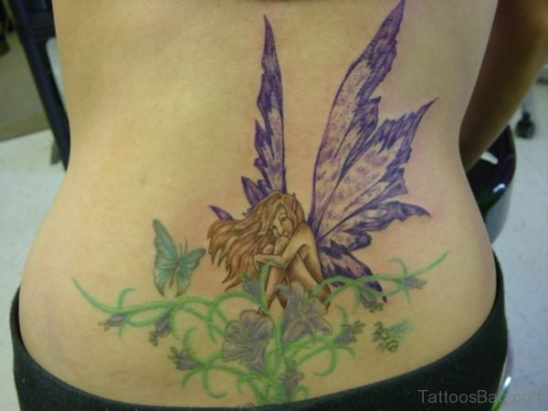 Fairy Tattoo On Lower Back