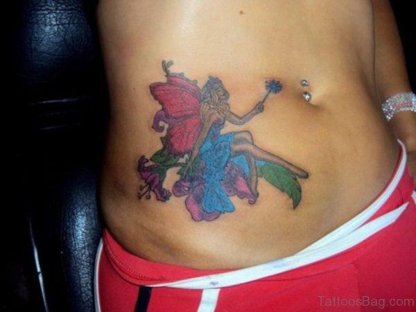 Fairy Tattoo On Waist