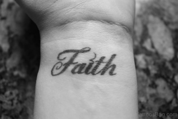 Faith Tattoo Design On Wrist