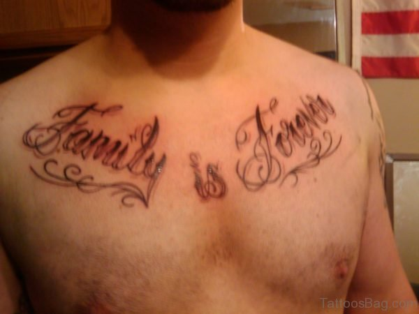 Family Forever Chest Tattoo