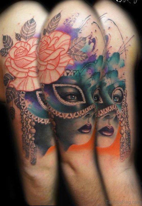 Fanatstic Venetian Mask Tattoo