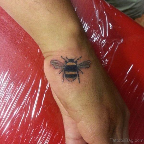 Fancy Bee Tattoo On hand
