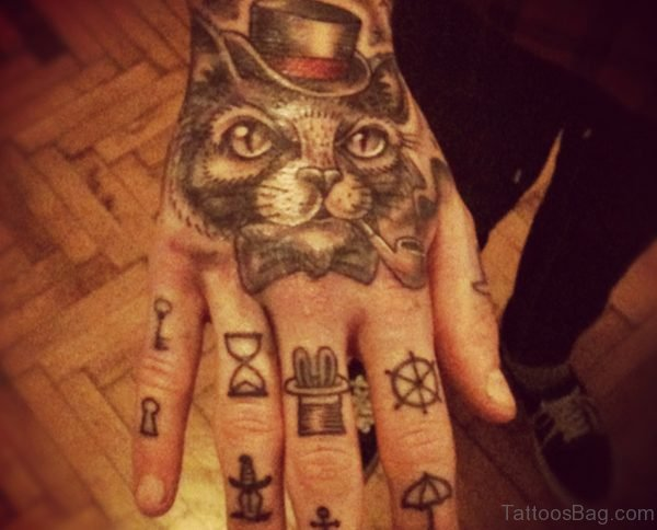 Fancy Cat Tattoo