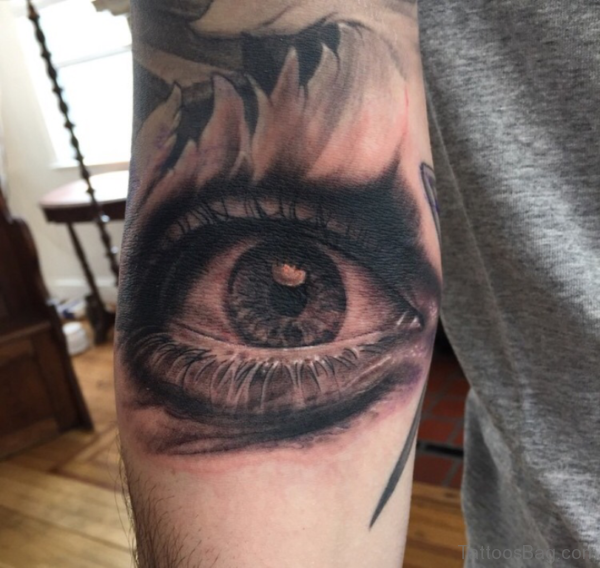 Fancy Eye Tattoo Design For Arm