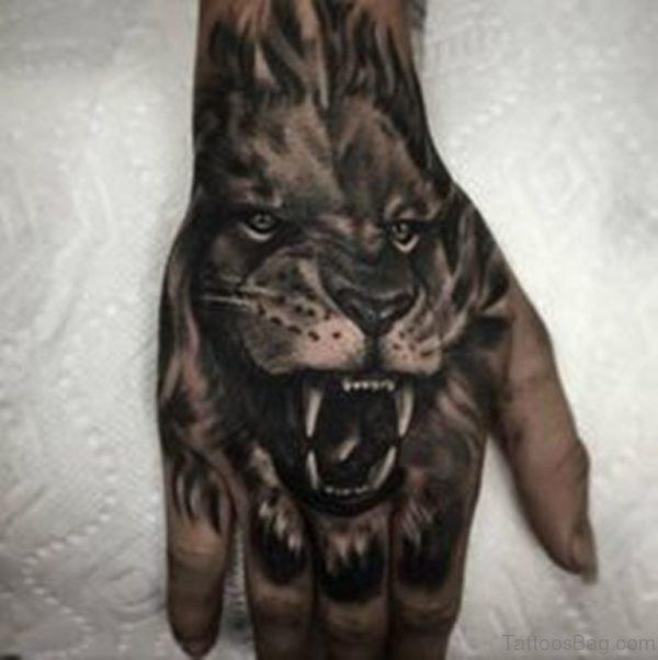 Fancy Lion Tattoo