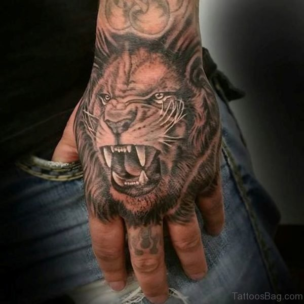 Fancy Lion Tattoo Design