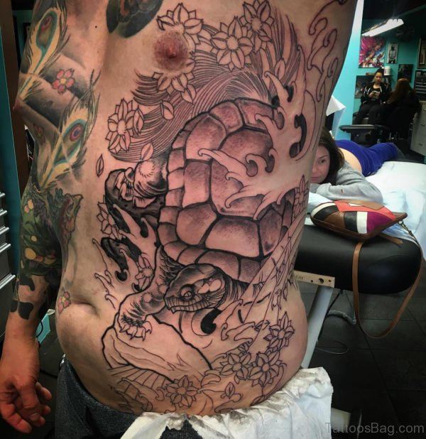 73 best rib tattoos for men for Fancy name tattoos