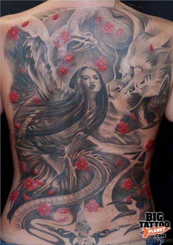 Fantastic Back Tattoo