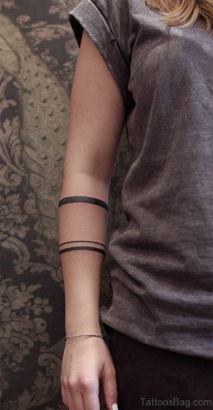 Fantastic Band Tattoo On Arm