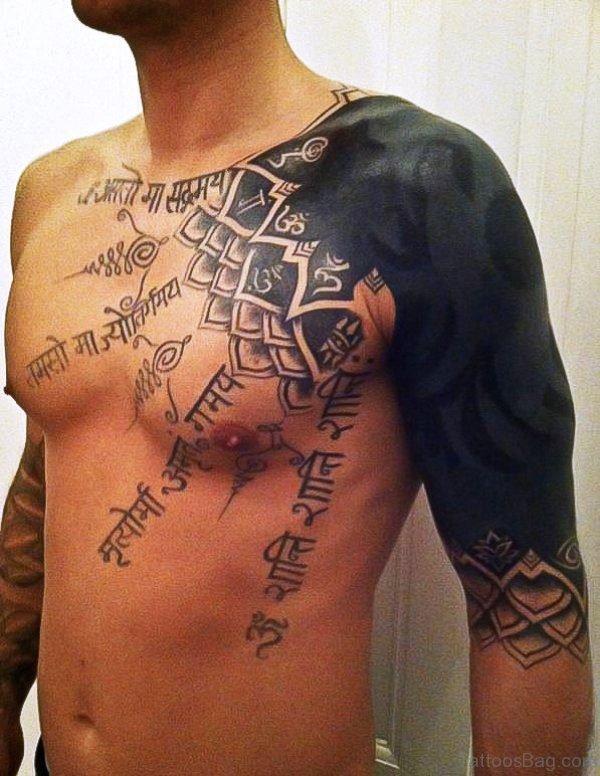 Fantastic Black Tattoo On Chest