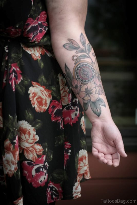 Fantastic Magnolia Tattoo On Wrist