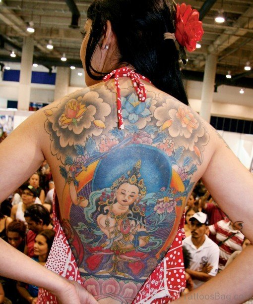 Fantastic Religious Tattoo On Back Body