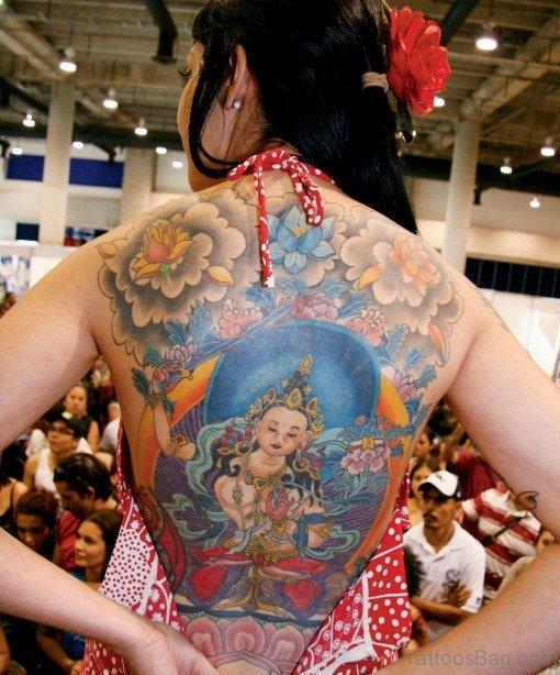 Fantastic Religious Tattoo On Back Body