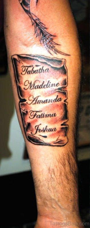 Fantastic Scroll Tattoo On Arm
