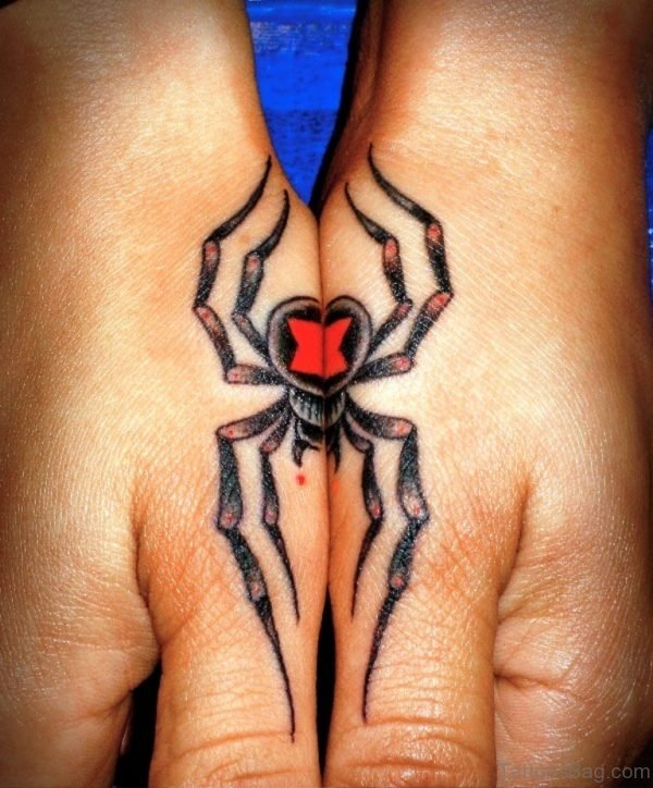 Fantastic Spider Tattoo On Hand