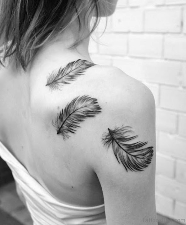 Feather Tattoo Design For Shoulder