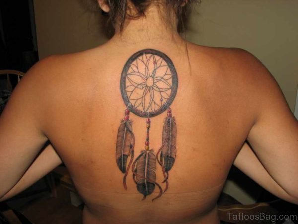 Feather Tattoo On Back