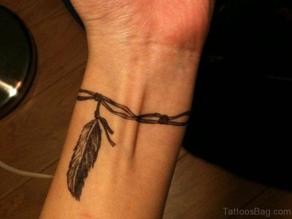 Feather Tattoo On Wrist