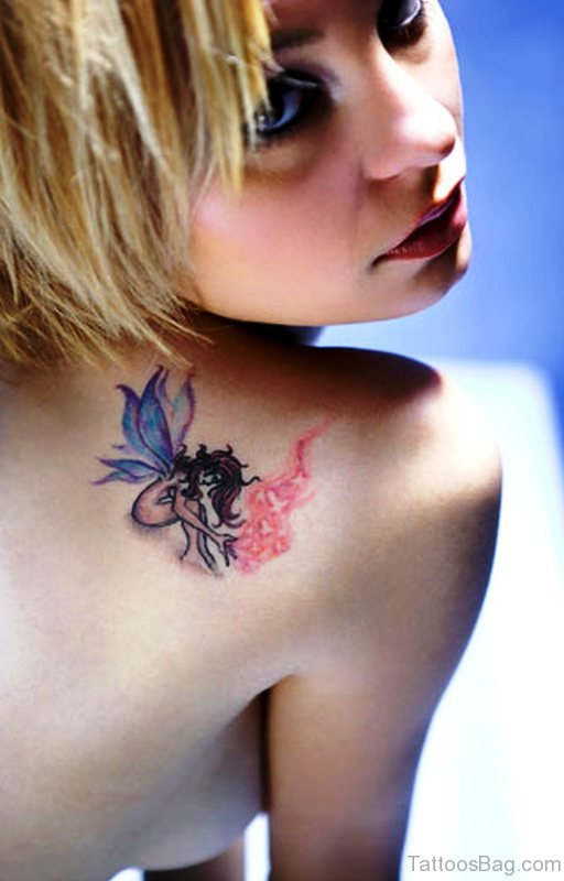 80 wonderful back shoulder tattoos for girls. Black Bedroom Furniture Sets. Home Design Ideas