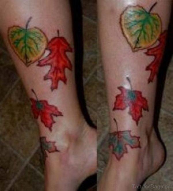 Fern Tattoo on Leg