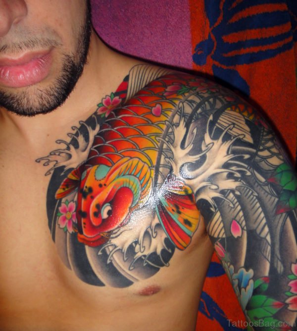 Fish Tattoo On Chest