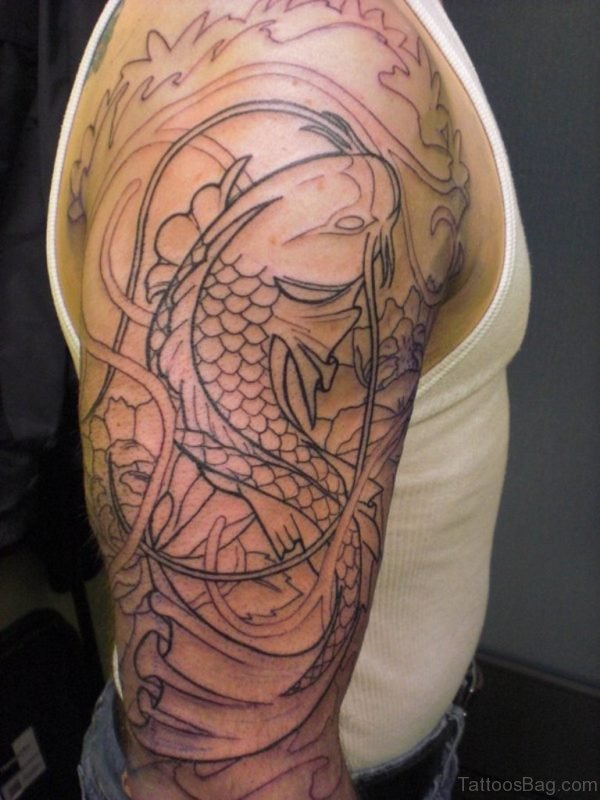 Fish Full Sleeve Tattoo