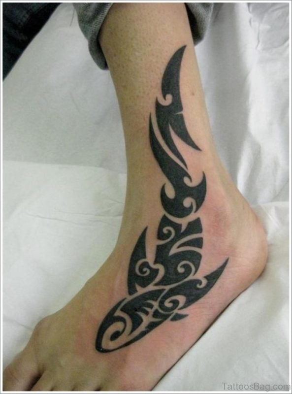 Fish Tattoo On Ankle