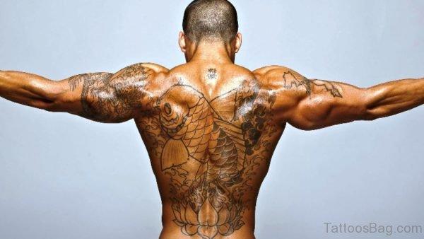 Fish Tattoo On Back 1