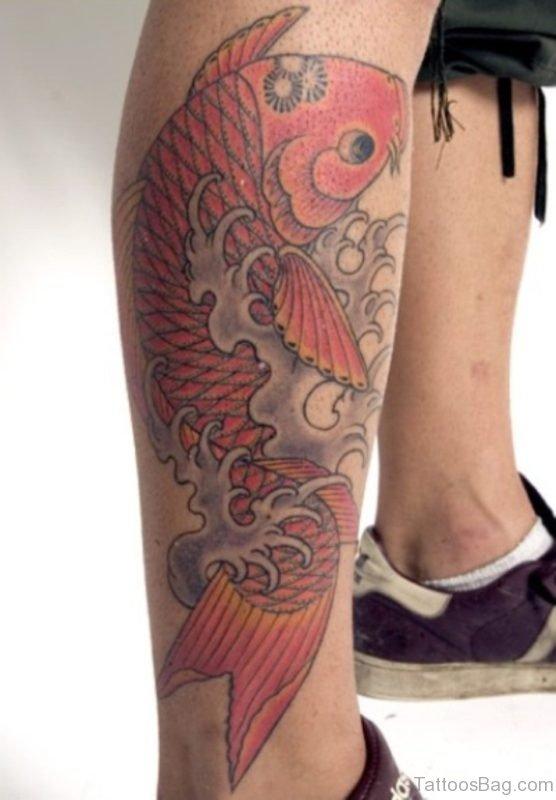 Fish Tattoo On Leg