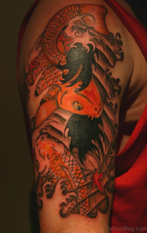 Fish Tattoo On Shoulder