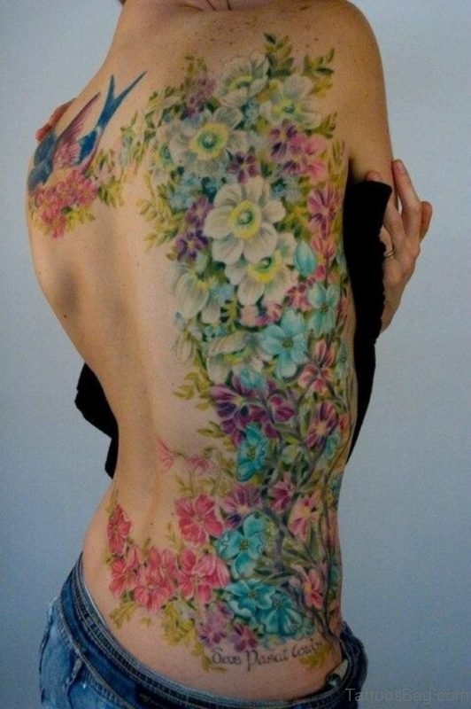 Floral Tattoo On Back