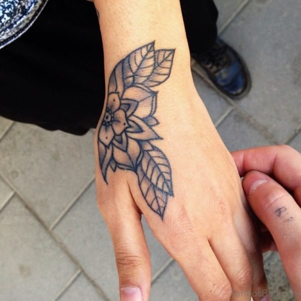 Floral Tattoo On Hand