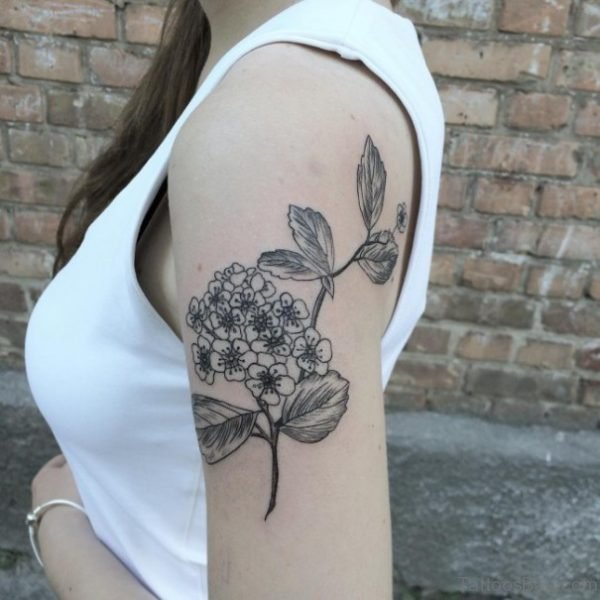 Floral Tattoo On Shoulder