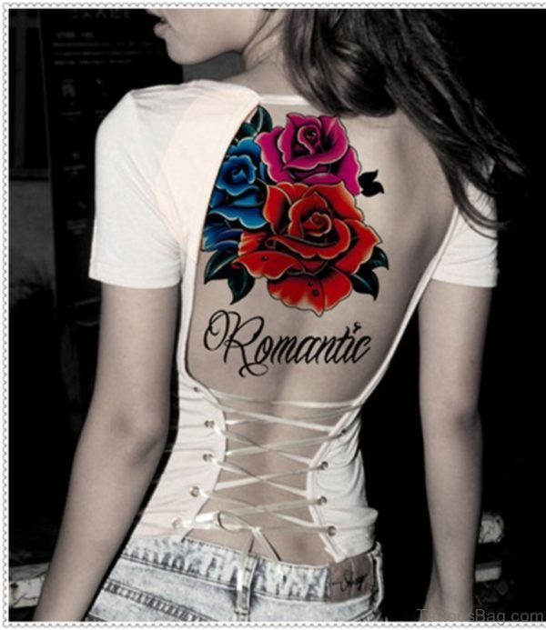 Flower Tattoo Design On Back
