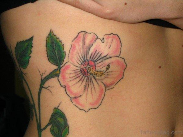 Flower Tattoo Design On Rib