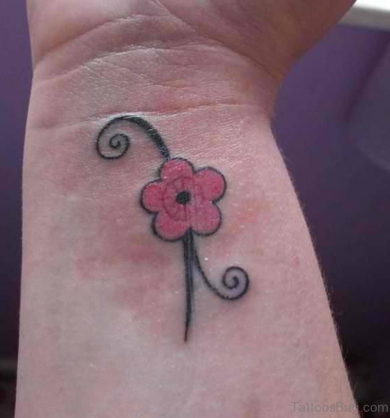 Flower Tattoo Design On Wrist