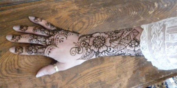 Flower Tattoo On Hand