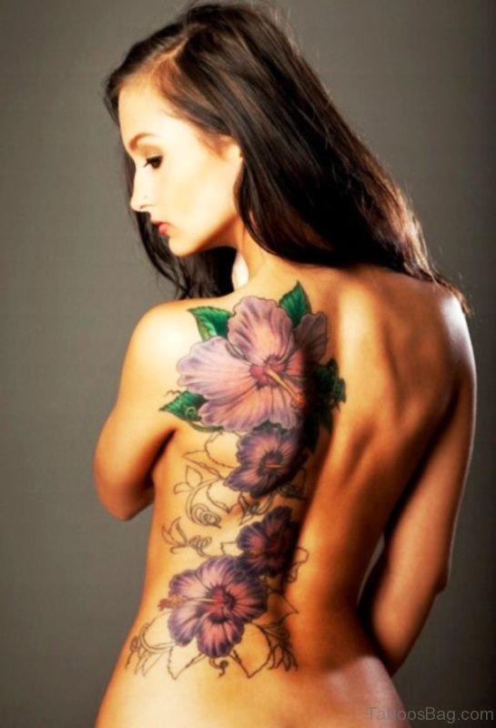Flowers Tattoo On Back
