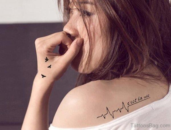 Flying Birds Tattoo Design On Hand