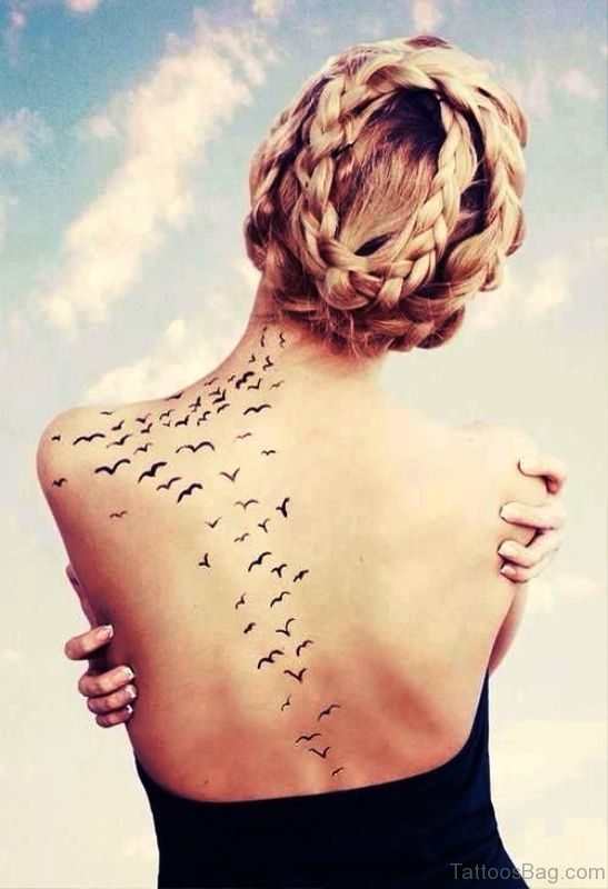 Flying Birds Tattoo Design On Shoulder