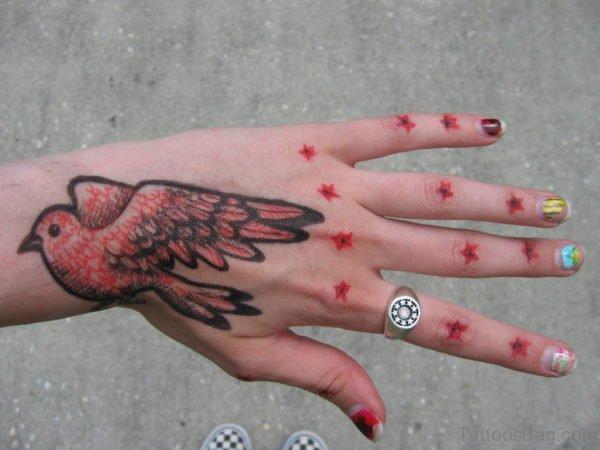 Flying Birds Tattoo On Hand